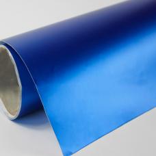 Нежно-синий матовый хром