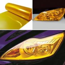 Пленка для защиты и тонирования фар желтая