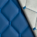 Экокожа Ромб Синяя (Синяя строчка)