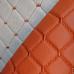 Экокожа Ромб Оранжевая (Оранжевая строчка)